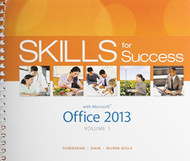 Skills For Success With Office 2013 A - Access Card - For Skills For Success