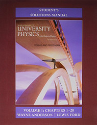 Student's Solution Manual For University Physics With Modern Physics Volume 1