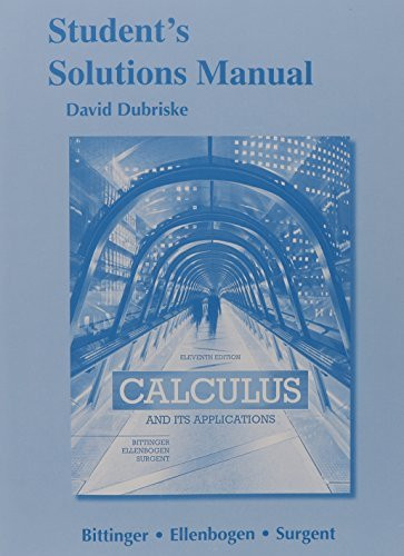 Students Solutions Manual For Calculus And Its Applications