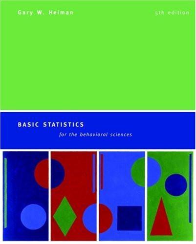 Basic Statistics For The Behavioral Sciences
