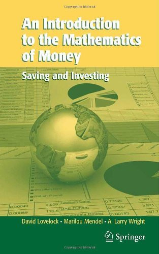Introduction To The Mathematics Of Money
