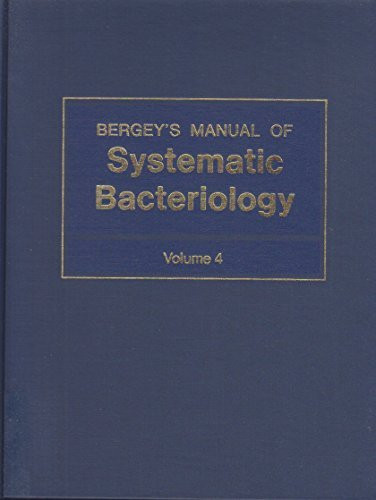 Bergey's Manual Of Systematic Bacteriology Volume 4
