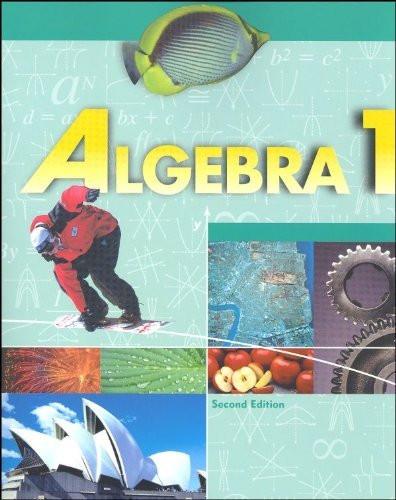 Algebra 1 Student Text