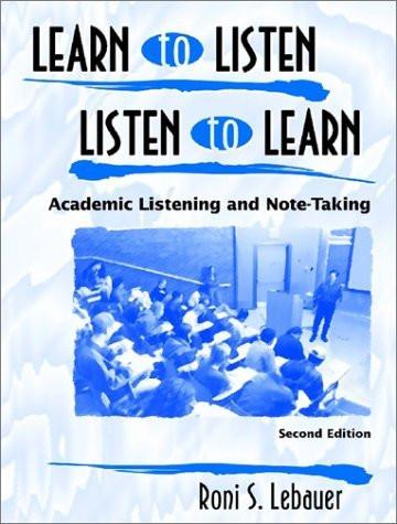 Learn To Listen Listen To Learn 1