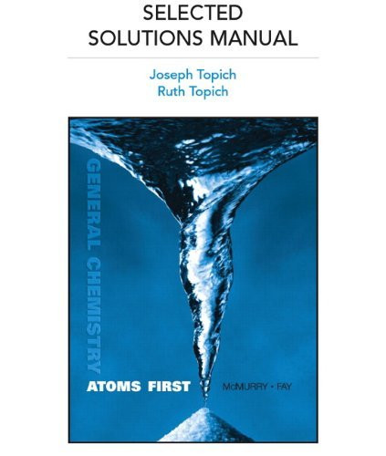 Selected Solutions Manual For General Chemistry