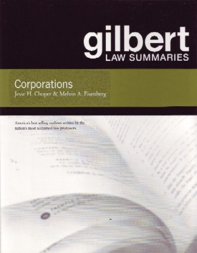 Gilbert Law Summaries On Corporations
