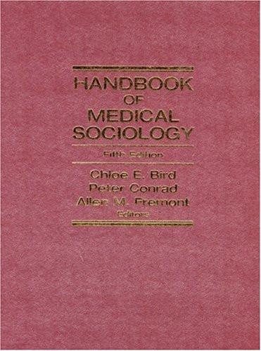 Handbook Of Medical Sociology