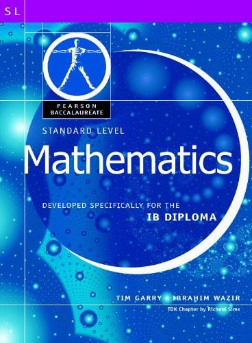 Math-Standard Level-Pearson Baccaularete For Ib Diploma Programs