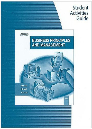 Student Actv Guide Bus Principles And Mgmt