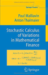 Stochastic Calculus Of Variations In Mathematical Finance