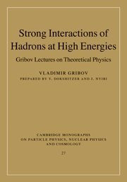 Strong Interactions Of Hadrons At High Energies