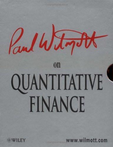 Paul Wilmott On Quantitative Finance 3 Volume set