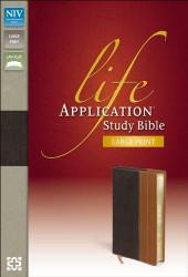 NIV Life Application Study Bible Large Print Imitation Leather Brown/Tan