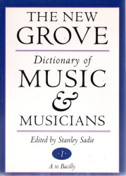 New Grove Dictionary Of Music And Musicians