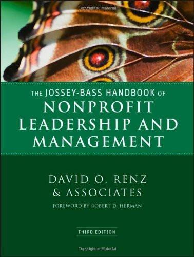 Jossey-Bass Handbook of Nonprofit Leadership & Managemen