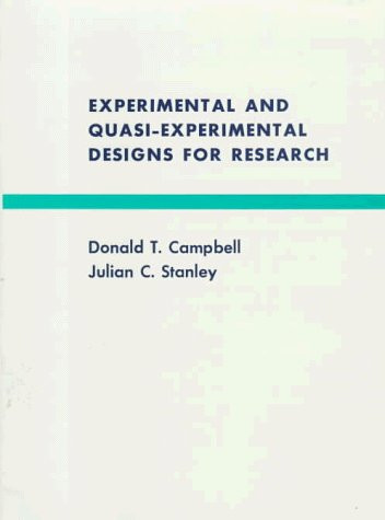 Experimental And Quasi-Experimental Designs