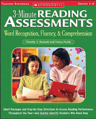 3-Minute Reading Assessments Grades 1-4
