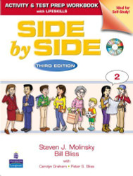 Side By Side 2 Activity Test Prep Workbook W/Answer Key & Cds