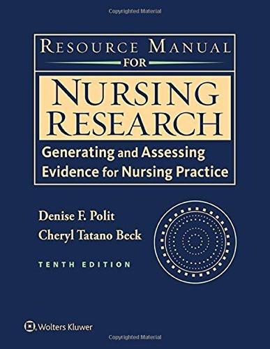 Nursing Research Resrouce Manual
