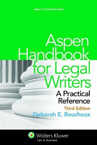 Aspen Handbook For Legal Writers