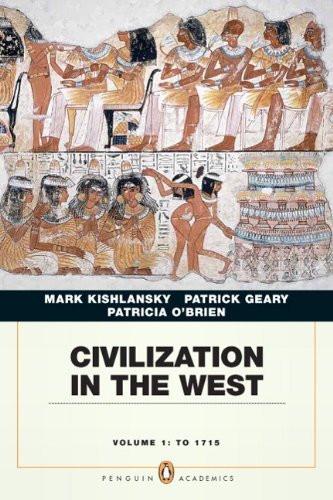 Civilization In The West Volume 1 Brief Edition