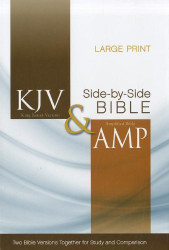 KJV Amplified Parallel Bible Large Print Hardcover