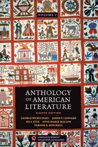 Anthology Of American Literature Volume 1