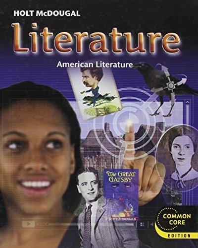 Holt Mcdougal Literature Student Edition Grade 11 American Literature 2012