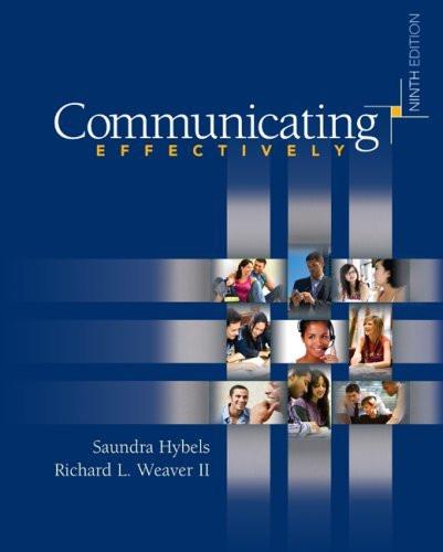 Communicating Effectively