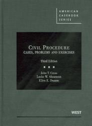 Civil Procedure Cases Problems And Exercises