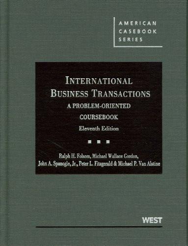 International Business Transactions A Problem-Oriented Coursebook