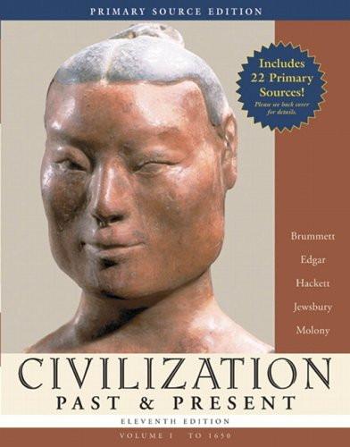 Civilization Past And Present Volume 1