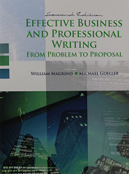 Effective Business And Professional Writing