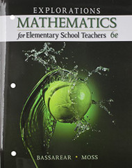 Explorations Mathematics For Elementary School Teachers