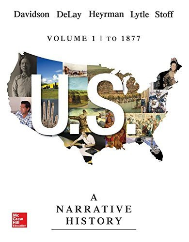 Us Volume 1 A Narrative History To 1877
