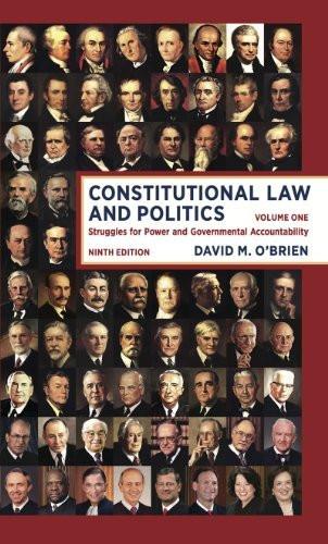 Constitutional Law And Politics Volume 1