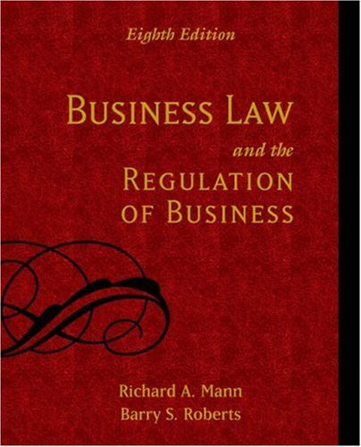 Business Law And The Regulation Of Business