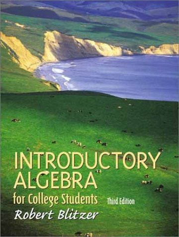 Introductory Algebra For College Students