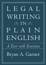 Legal Writing In Plain English