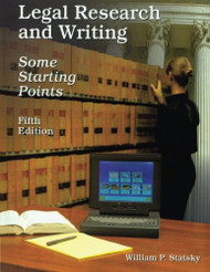 Legal Research And Writing by William P Statsky