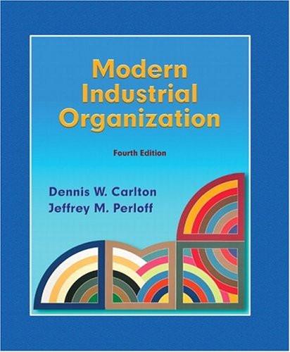 Modern Industrial Organization