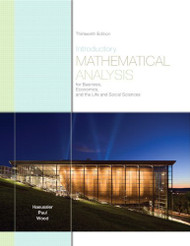 Introductory Mathematical Analysis For Business Economics And The Life And Social Sciences