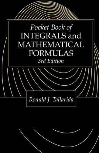 Pocket Book Of Integrals And Mathematical Formulas