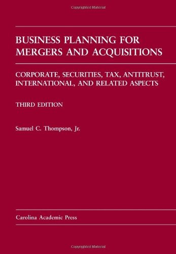 Business Planning For Mergers And Acquisitions