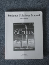 Solution Manual For Calculus For Business Economics And The Social And Life Sciences