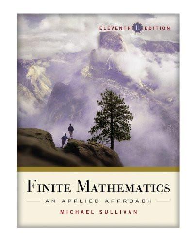 Finite Mathematics An Applied Approach