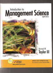Introduction To Management Science - Bernard W Taylor