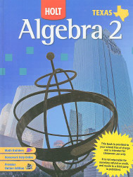 Algebra 2 Texas Edition by RINEHART AND WINSTON HOLT