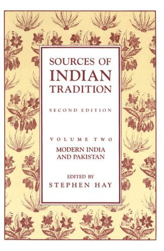 Sources Of Indian Tradition Volume 2