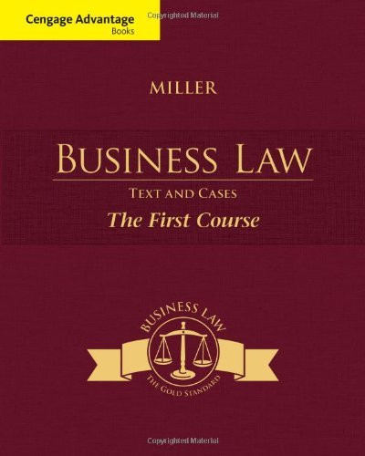 Business Law Text And Cases The First Course